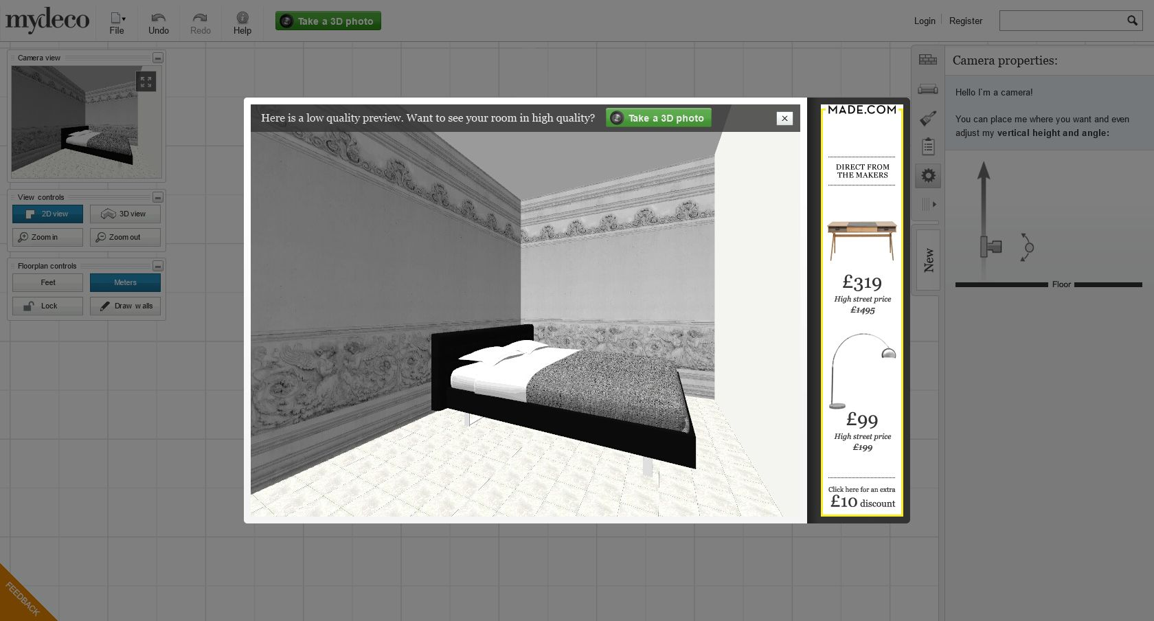 screen capture 003 3d room planning tool plan your room layout in 3d